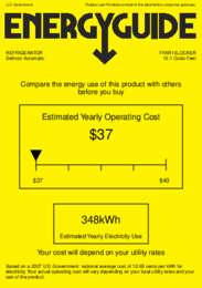 FFAR10LOCKER Energy Guide