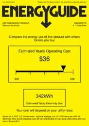 BI605BFFFR Energy Guide