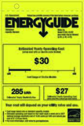 Energy Guide Labels: G1202, G1262