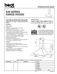 K29 Specification Sheet