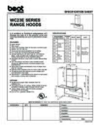 WC23E Specification Guide