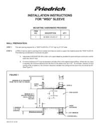 WallMaster WSD Sleeve Installation Manual