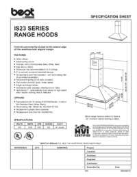 IS23 Specification Sheet