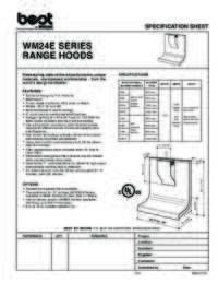 WM24E Specification Sheet
