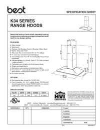 K34 Specification Sheet