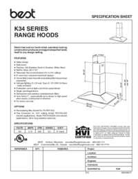 K34 Specification Sheet