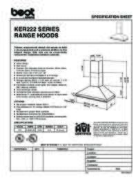 KER222 Specification Sheet