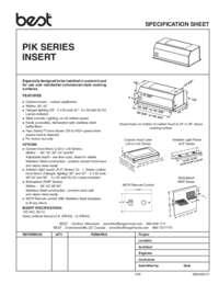 PIK33 Specification Sheet