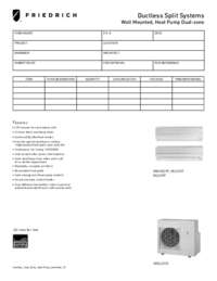Ductless Model M24CG Operation Manual