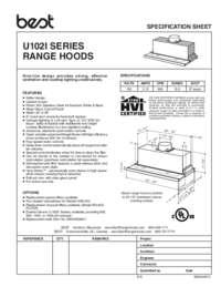 U102 Specification Sheet