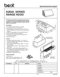 K260A Specification Sheet
