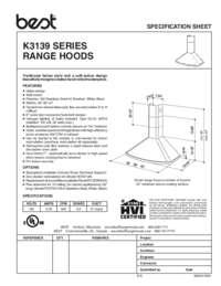 K3139 Specification Sheet