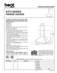 K273 Specification Sheet