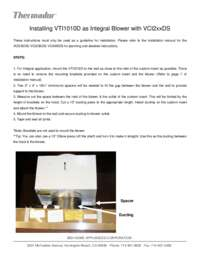 Instruction for VTI1010D as an Integral Solution
