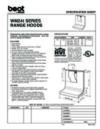 WM24I Specification Sheet