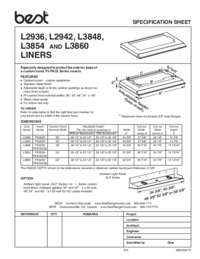 L29 L38 Specification Sheet