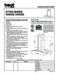 K7388 Specification Sheet