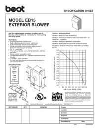 EB15 Specification Sheet