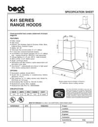 K41 Specification Sheet