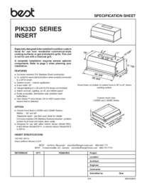 PIK33D Specification Sheet