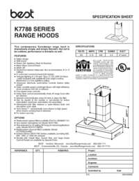 K7788 Specification Sheet