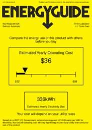 FF511LBISSHV Energy Guide