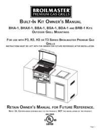 Built-In Kit Owners Manual
