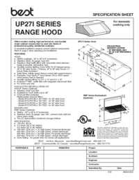 UP27I Specification Sheet