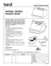 WPD28I Specification Sheet