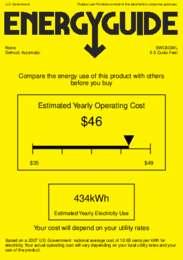 SWC6GWL Energy Guide