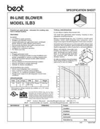 ILB3 Specification Sheet