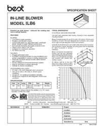 ILB6 Specification Sheet