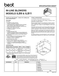 ILB11 Specification Sheet