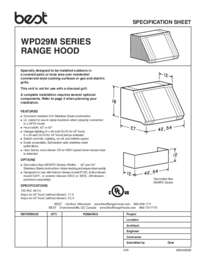 WP29 Specification Sheet
