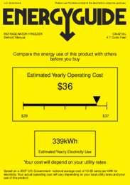 CM421BL Energy Guide