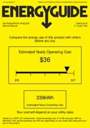 CM421BLBI Energy Guide