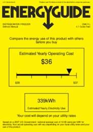CM411L Energy Guide