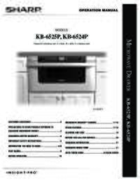 KB-6524P  KB-6525P Operation Manual
