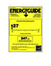 Energy Guide Label: Model RM1730W - 1.7 CF Refrigerator - White