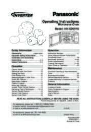 NN-SD697S Operating Manual (English)