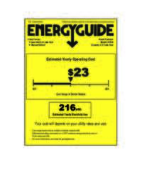 Energy Guide Label: Model CF1510 - 5.2 Cu. Ft. Chest Freezer - White