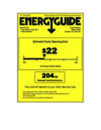 Energy Guide Label: Model CF1010 - 3.4 Cu. Ft. Chest Freezer - White