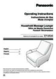 EP-MS40GK Operating Manual (English)