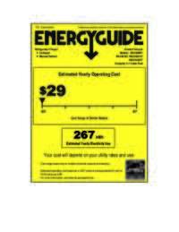 Energy Guide Label: Model RA3103SST - 3.1 CF Two Door Counterhigh Refrigerator - Black w/Stainless Steel Doors