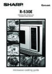 R-530ES Microwave Operation Manual