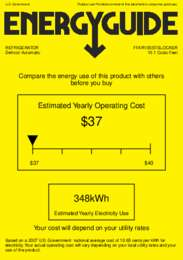 FFAR10SSTBLOCKER Energy Guide