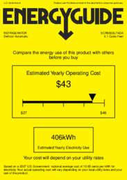 SCR500BL7ADA Energy Guide