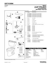 Parts Manual: CST743SDB