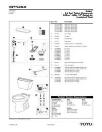 Parts Manual: CST744SLD