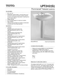 Spec Sheet: LPT242, LPT242G